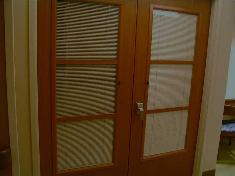IE; Blinds Between Glass Blind Applications - Wood Door